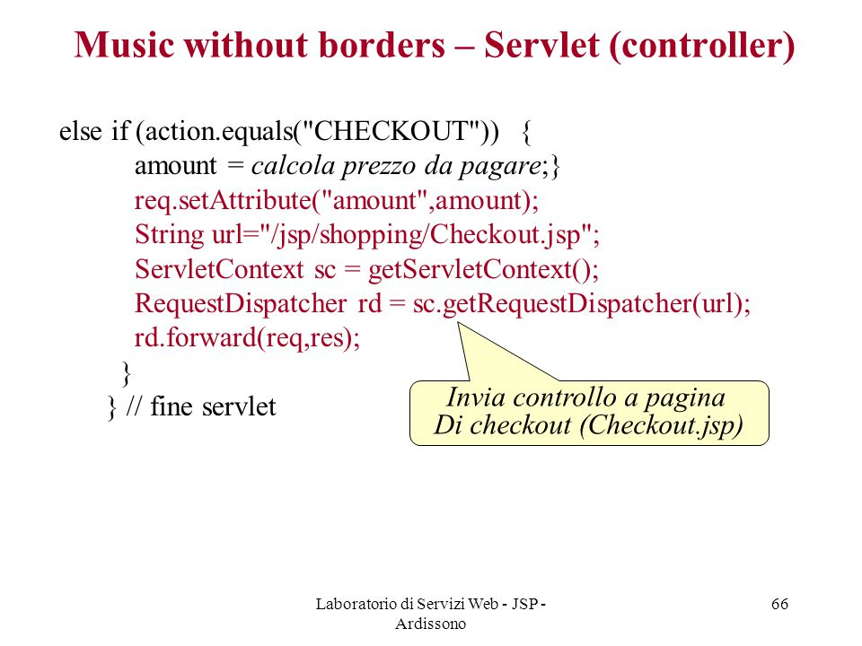 Music without borders – Servlet (controller)