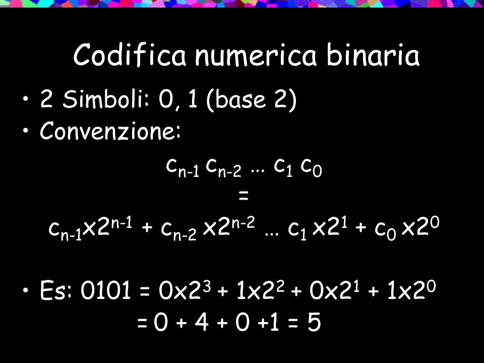 Codifica numerica binaria