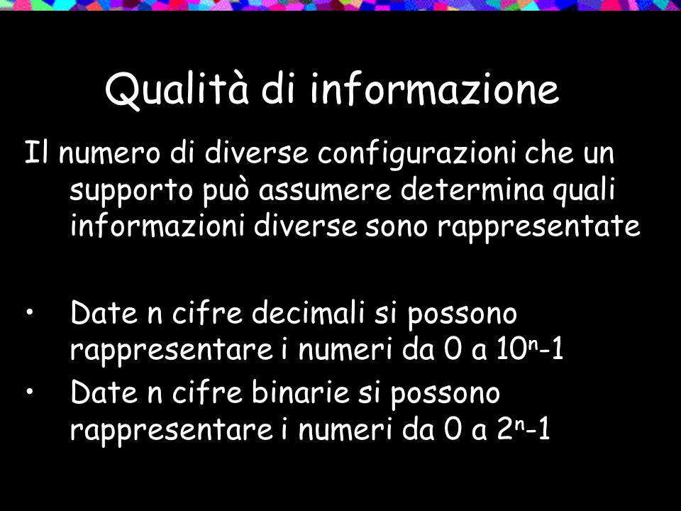 Qualità di informazione