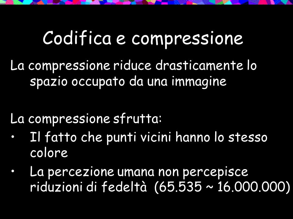 Codifica e compressione