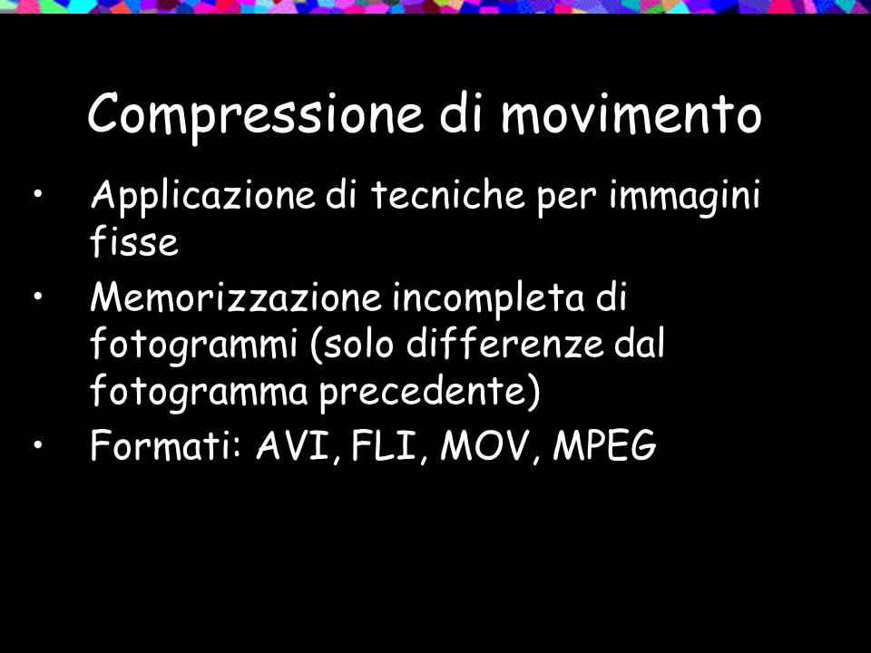Compressione di movimento