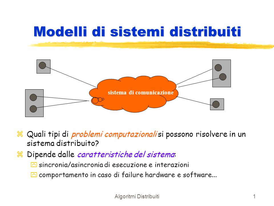 Modelli di sistemi distribuiti