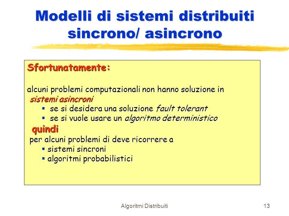 Modelli di sistemi distribuiti sincrono/ asincrono