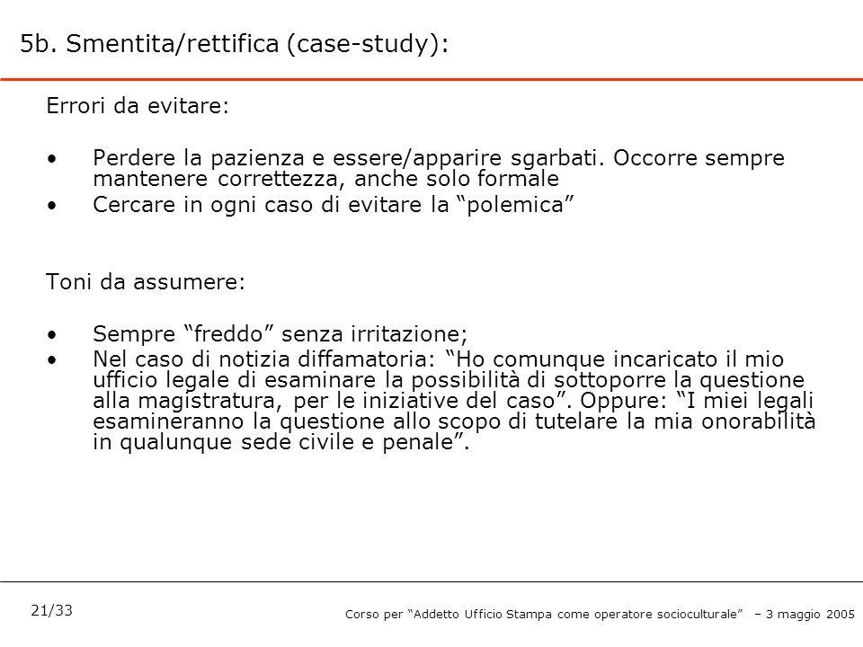 5b. Smentita/rettifica (case-study):