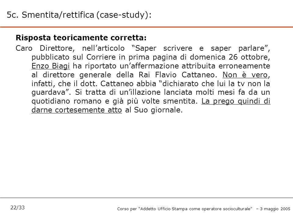 5c. Smentita/rettifica (case-study):