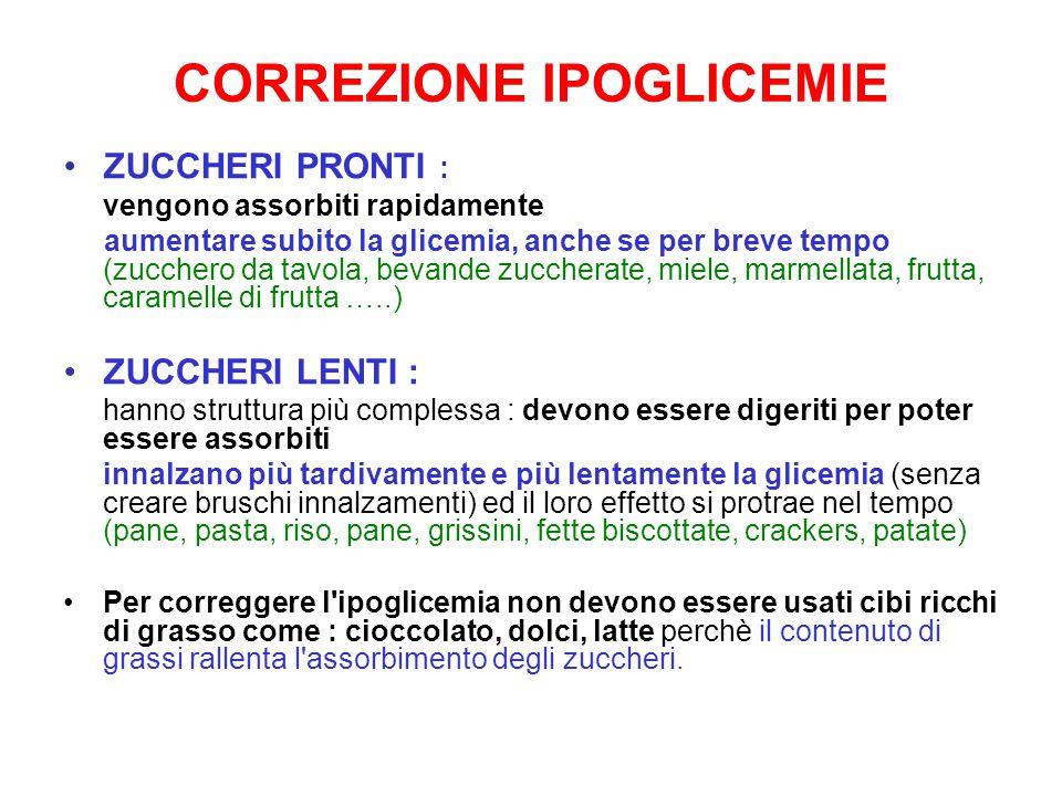 CORREZIONE IPOGLICEMIE