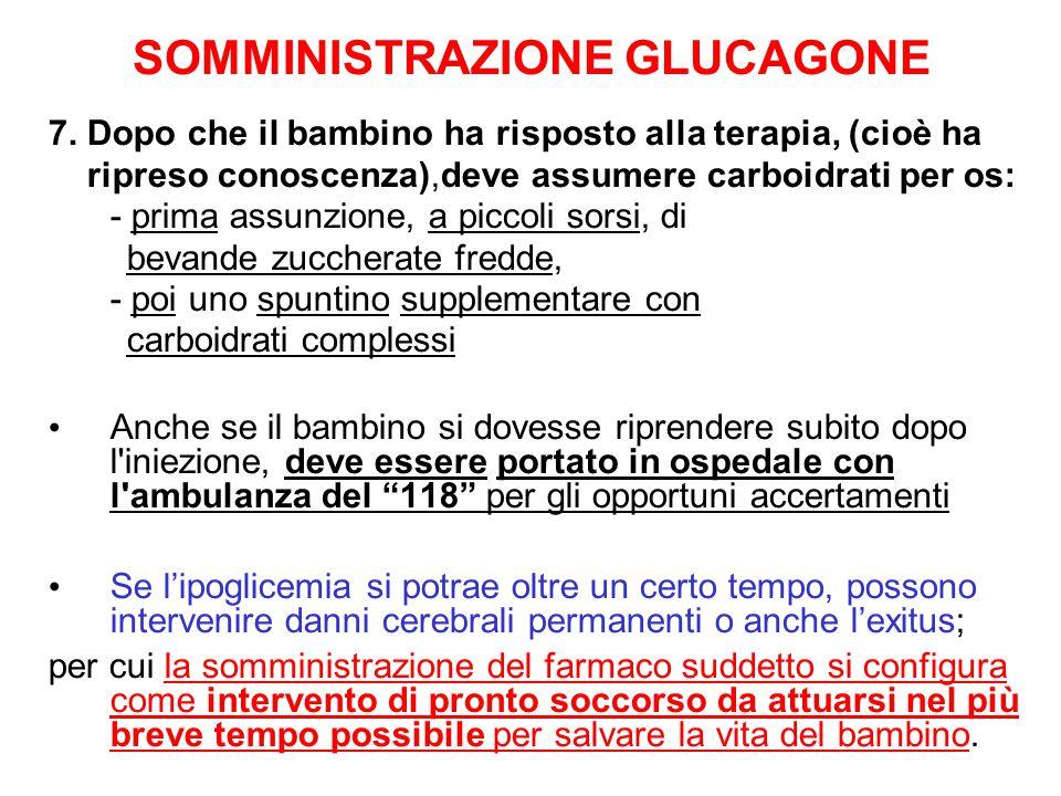 SOMMINISTRAZIONE GLUCAGONE
