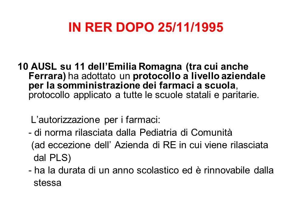 IN RER DOPO 25/11/1995