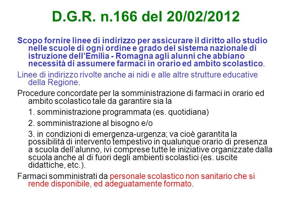 D.G.R. n.166 del 20/02/2012