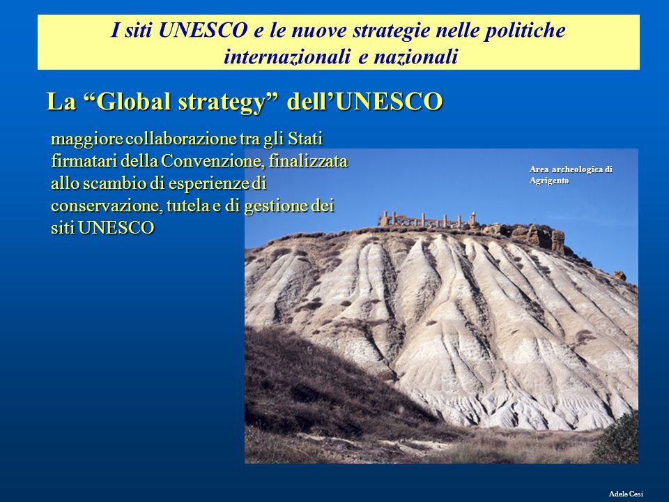 La Global strategy dell'UNESCO