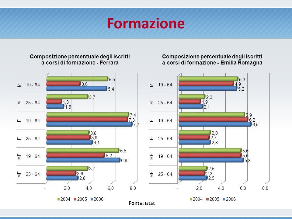 Formazione Fonte: Istat