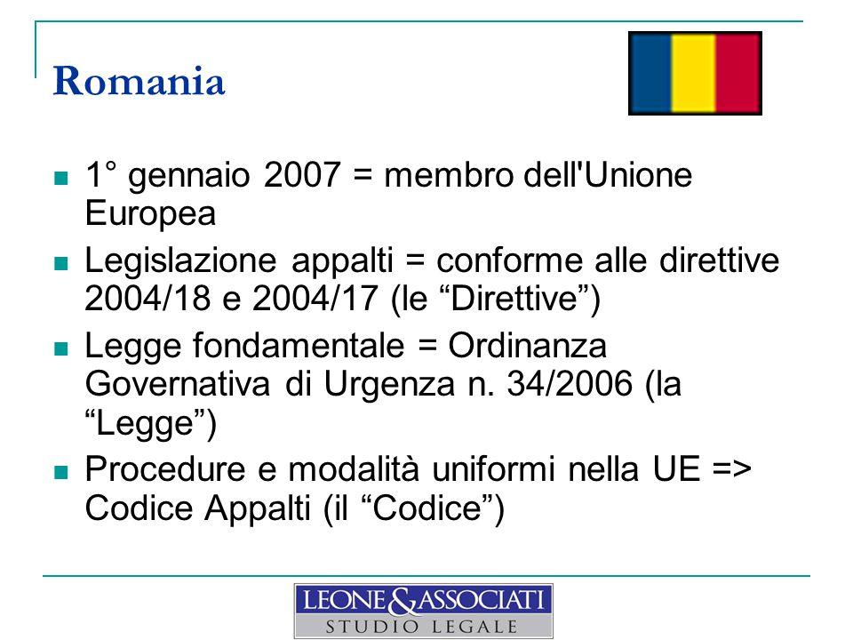 Romania 1° gennaio 2007 = membro dell Unione Europea