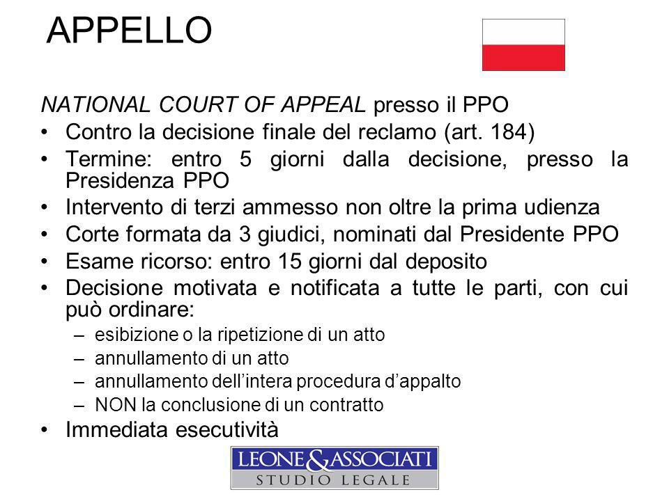 APPELLO NATIONAL COURT OF APPEAL presso il PPO