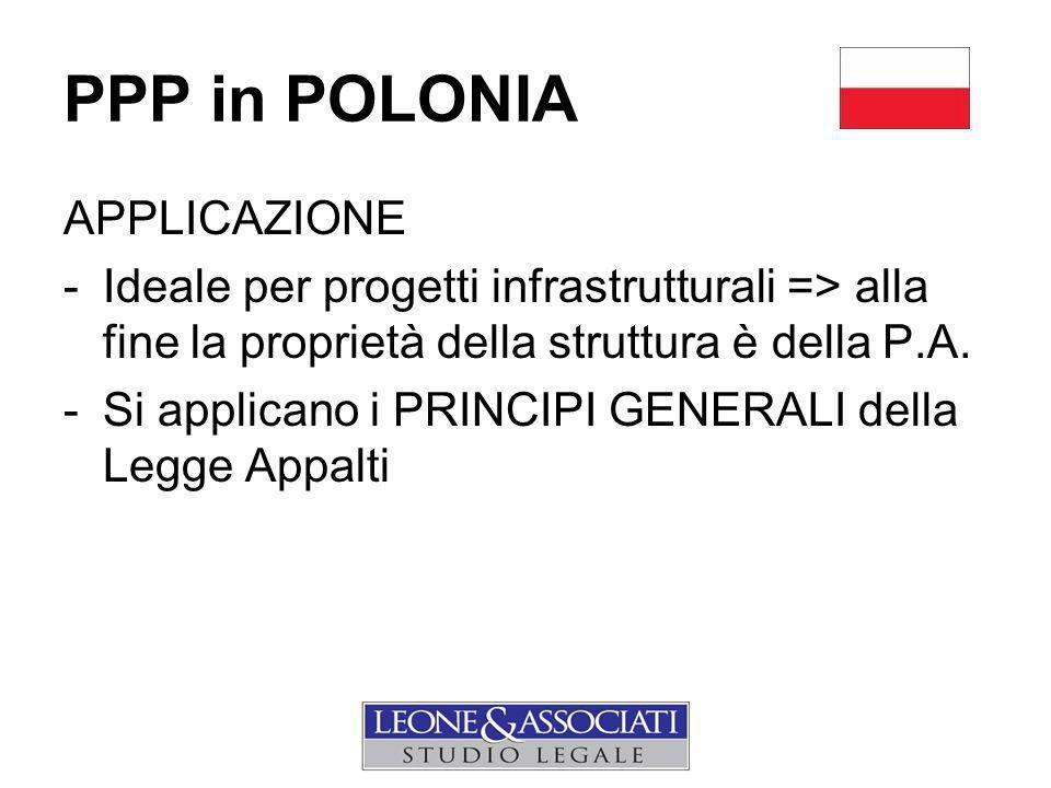 PPP in POLONIA APPLICAZIONE