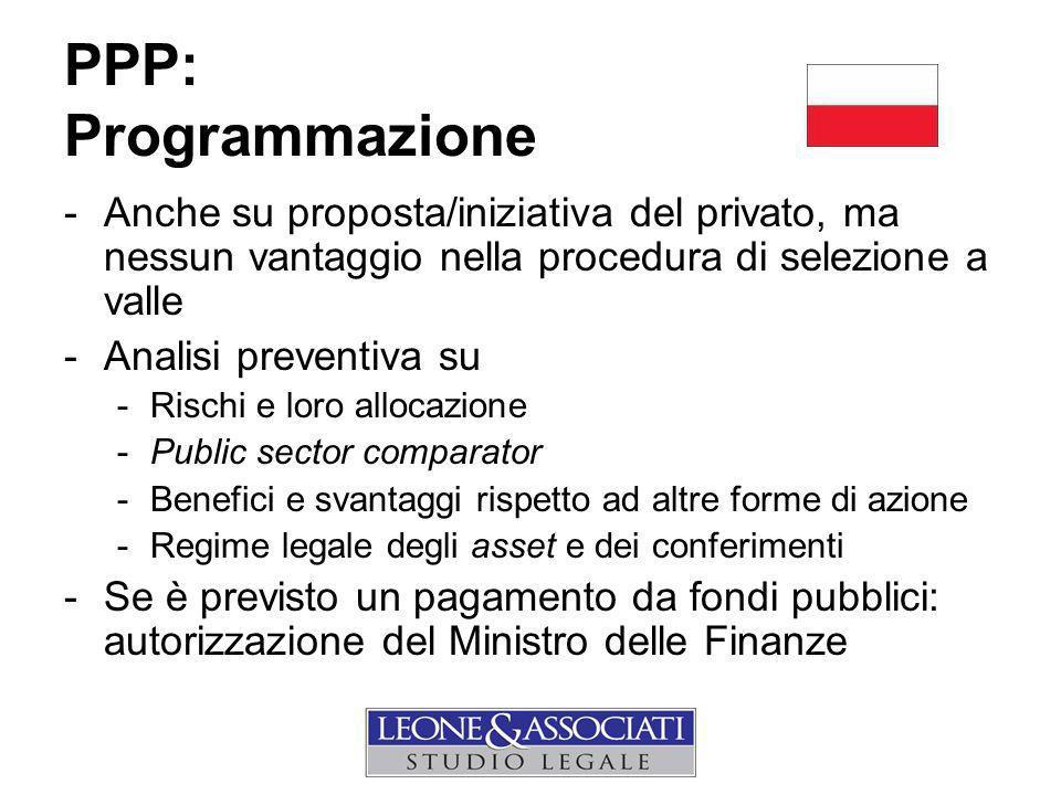 PPP: Programmazione Anche su proposta/iniziativa del privato, ma nessun vantaggio nella procedura di selezione a valle.