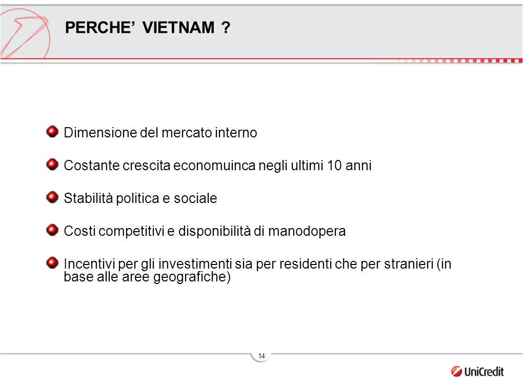 PERCHE' VIETNAM Dimensione del mercato interno