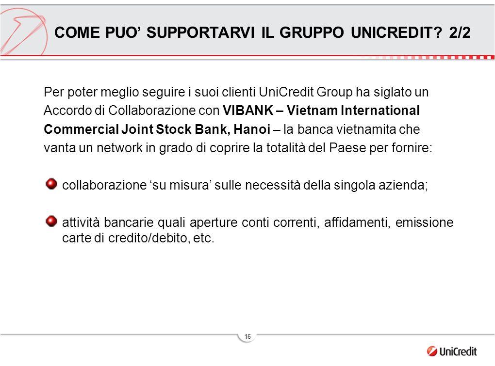 COME PUO' SUPPORTARVI IL GRUPPO UNICREDIT 2/2