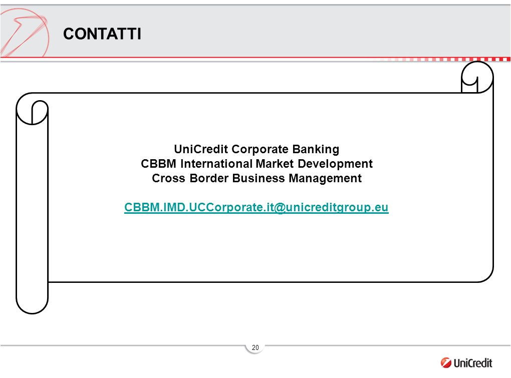 UniCredit Corporate Banking Cross Border Business Management