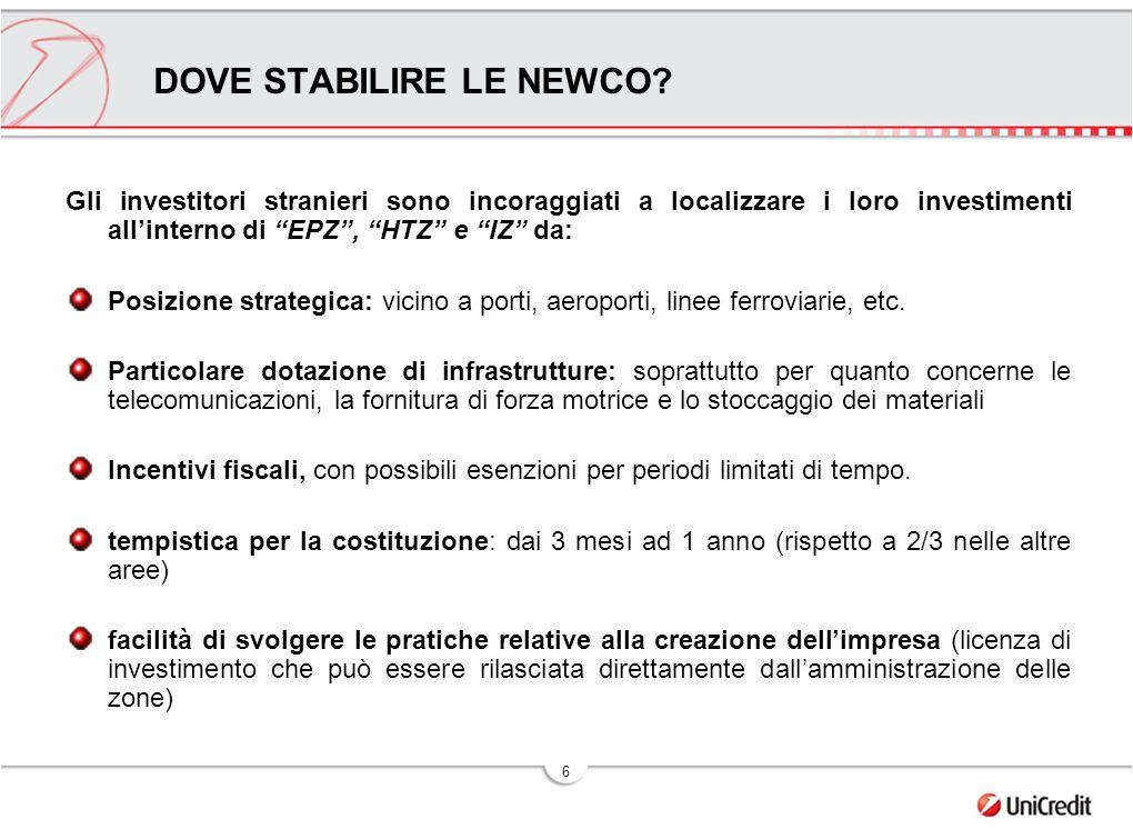 DOVE STABILIRE LE NEWCO