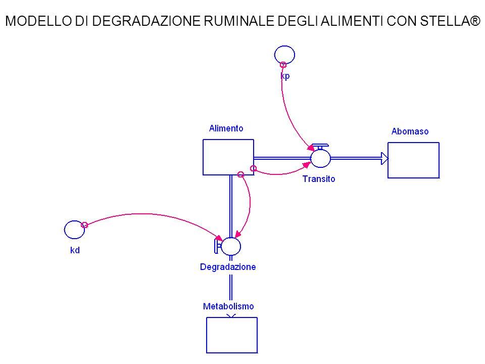 MODELLO DI DEGRADAZIONE RUMINALE DEGLI ALIMENTI CON STELLA®