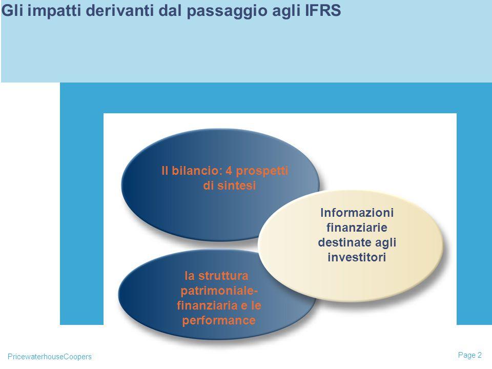 Gli impatti derivanti dal passaggio agli IFRS