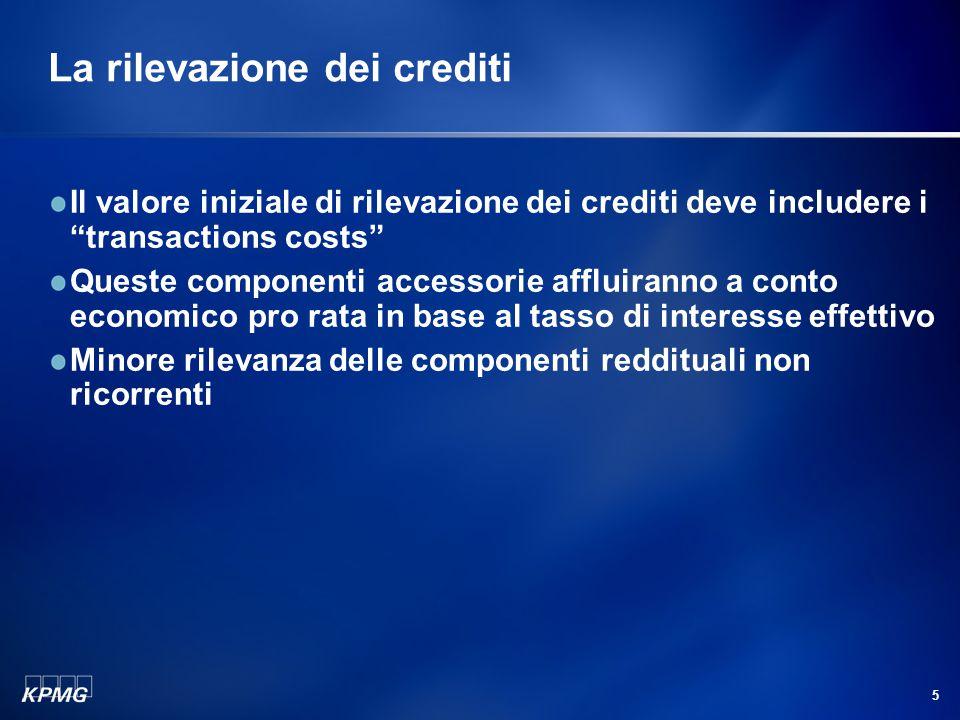 La valutazione dei crediti impaired