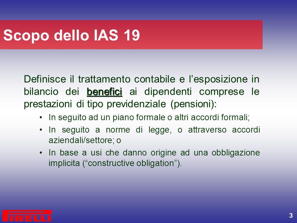 Scopo dello IAS 19