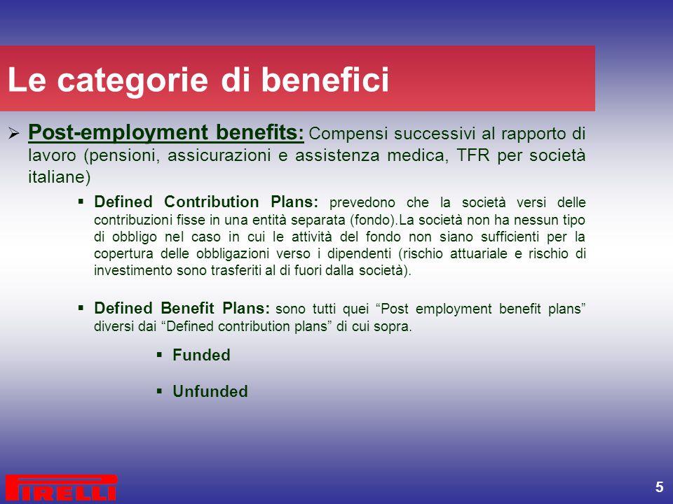 Le categorie di benefici