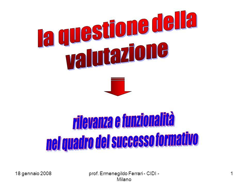 rilevanza e funzionalità nel quadro del successo formativo