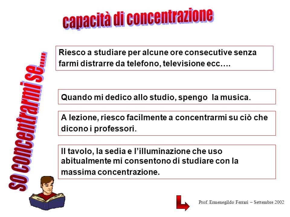capacità di concentrazione