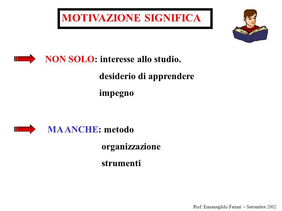 MOTIVAZIONE SIGNIFICA