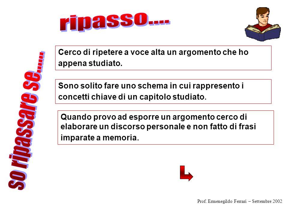 ripasso.... so ripassare se......