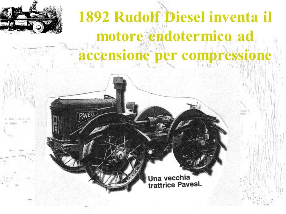 1892 Rudolf Diesel inventa il motore endotermico ad accensione per compressione