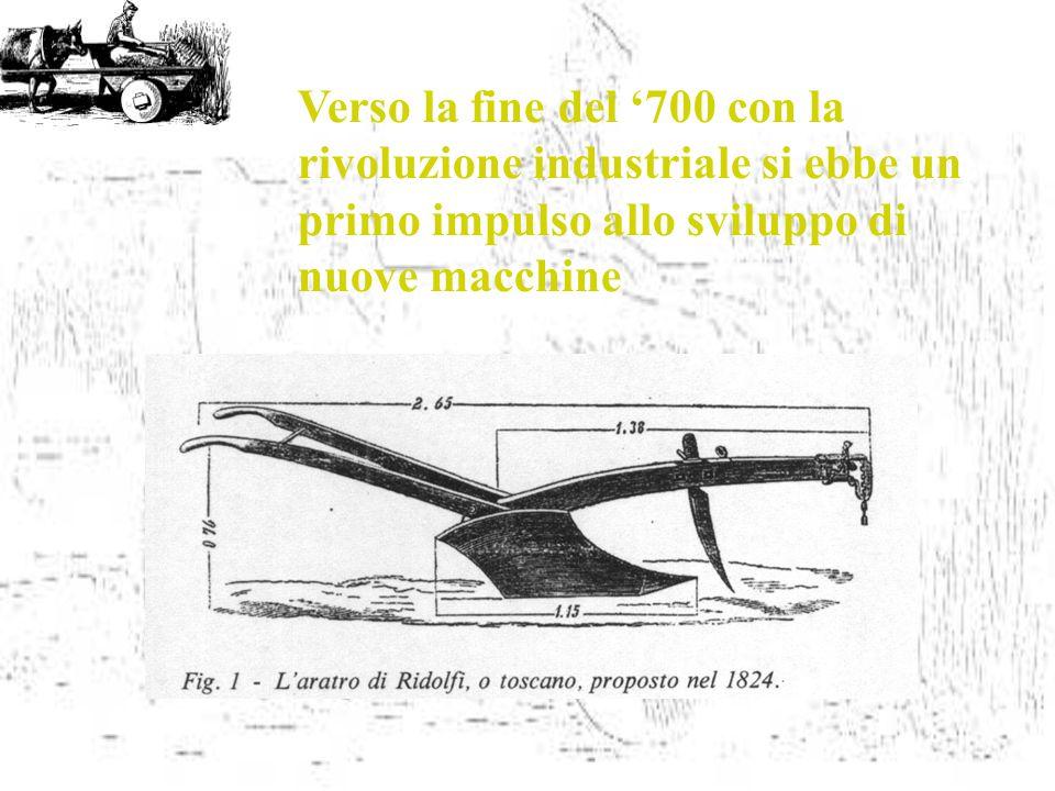 Verso la fine del '700 con la rivoluzione industriale si ebbe un primo impulso allo sviluppo di nuove macchine