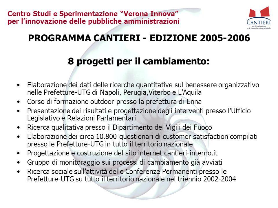 PROGRAMMA CANTIERI - EDIZIONE 2005-2006