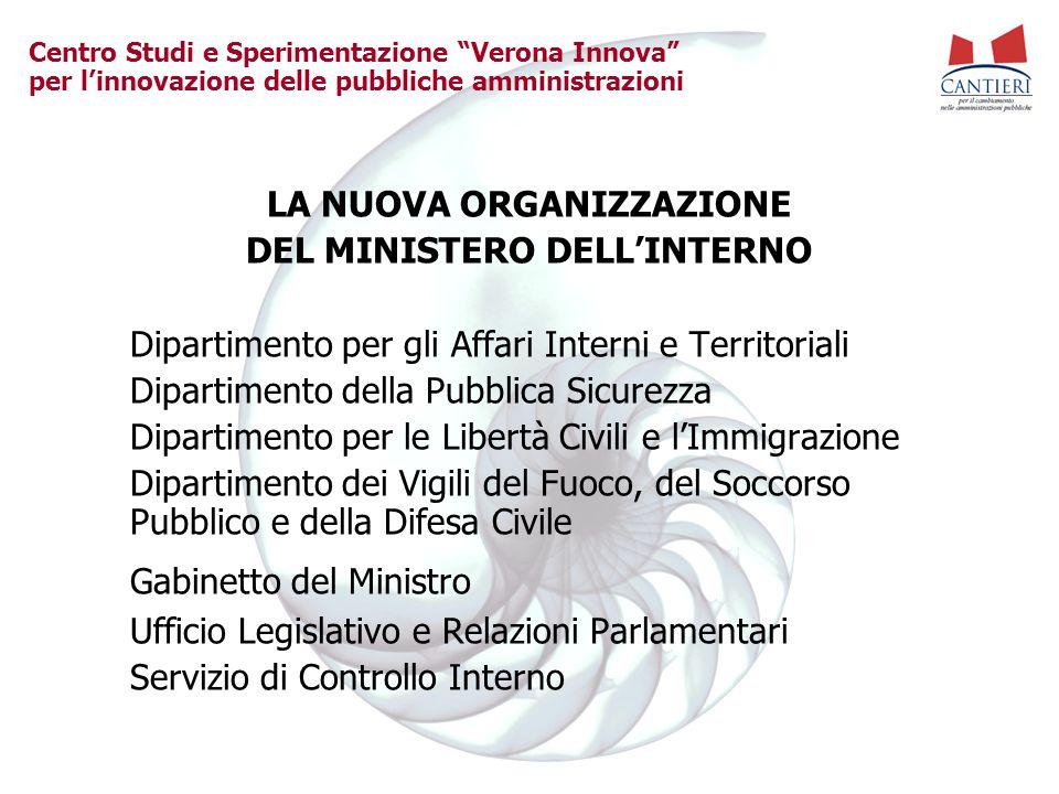 LA NUOVA ORGANIZZAZIONE DEL MINISTERO DELL'INTERNO