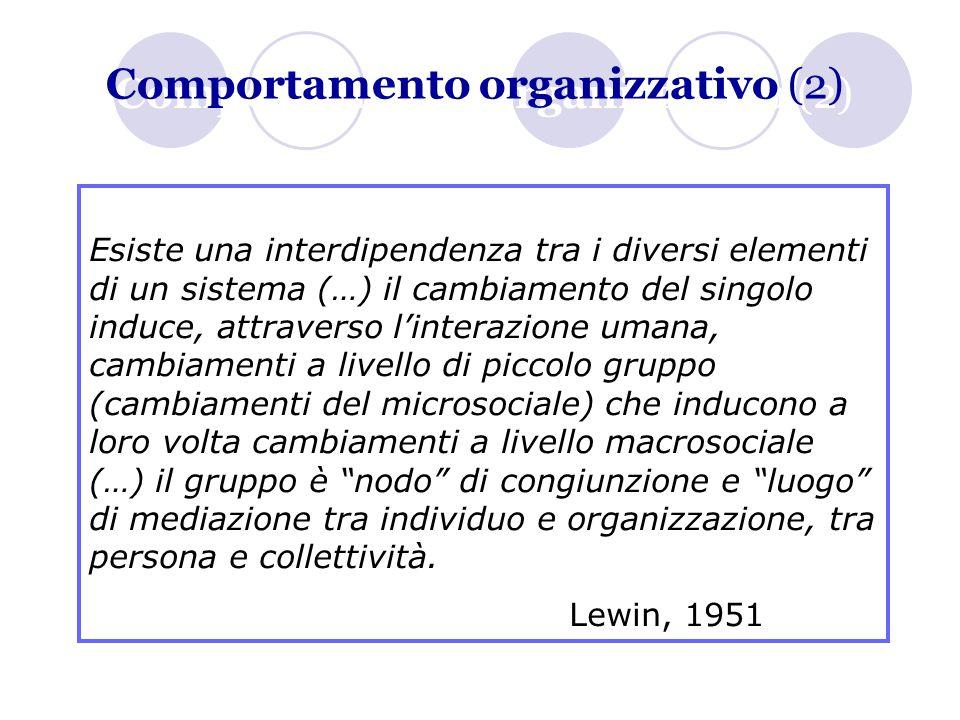 Comportamento organizzativo (2)