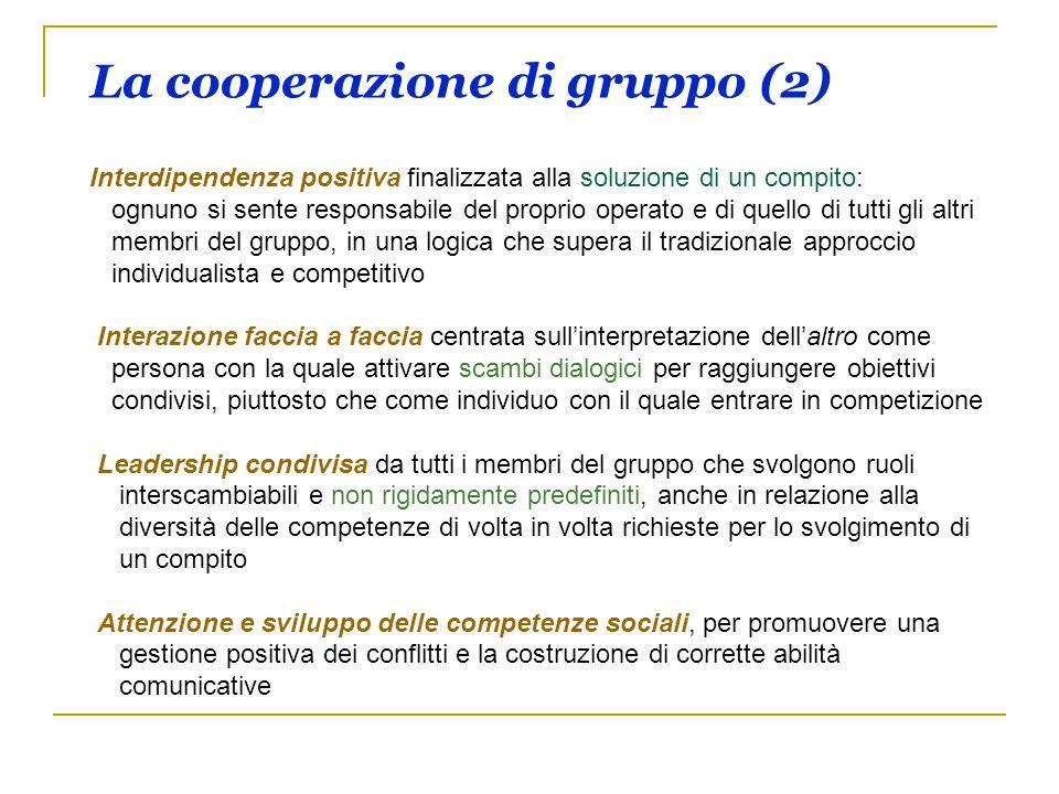 La cooperazione di gruppo (2)