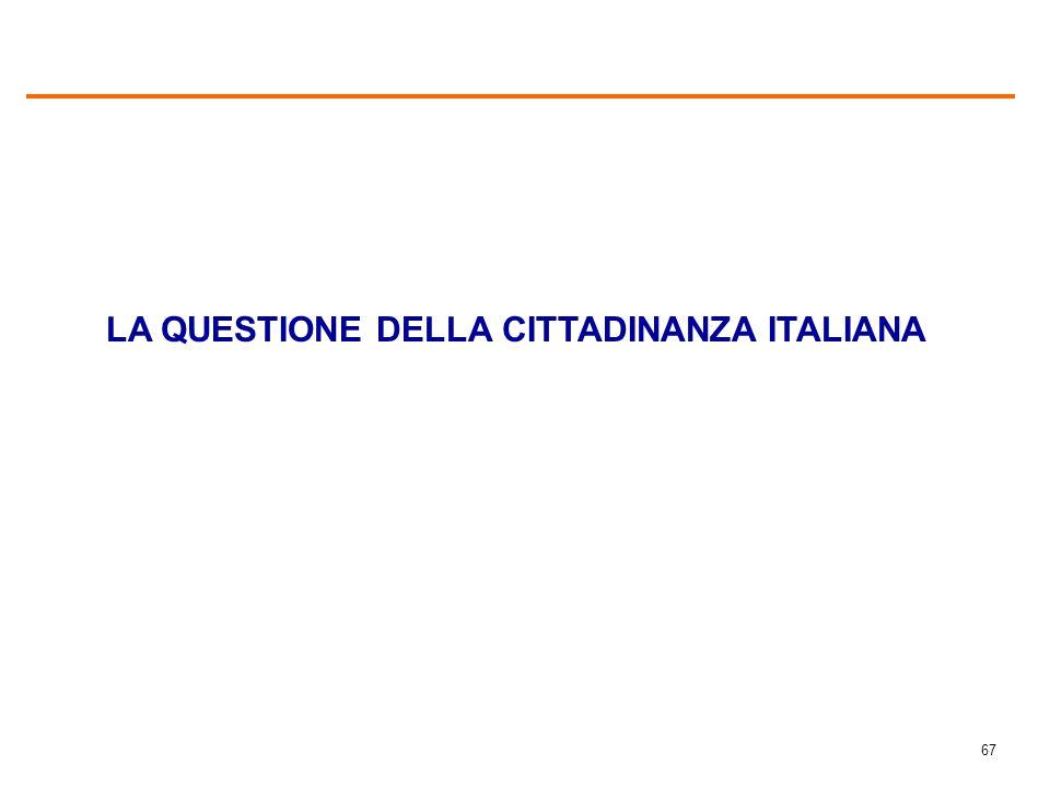 ACCORDO/DISACCORDO CON LA FRASE ALLA GRANDE MAGGIORANZA DEGLI IMMIGRATI PIACEREBBE POTER OTTENERE LA CITTADINANZA ITALIANA