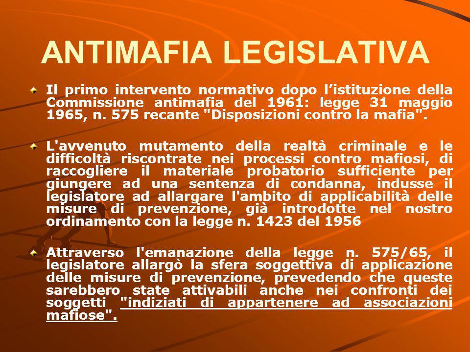 ANTIMAFIA LEGISLATIVA