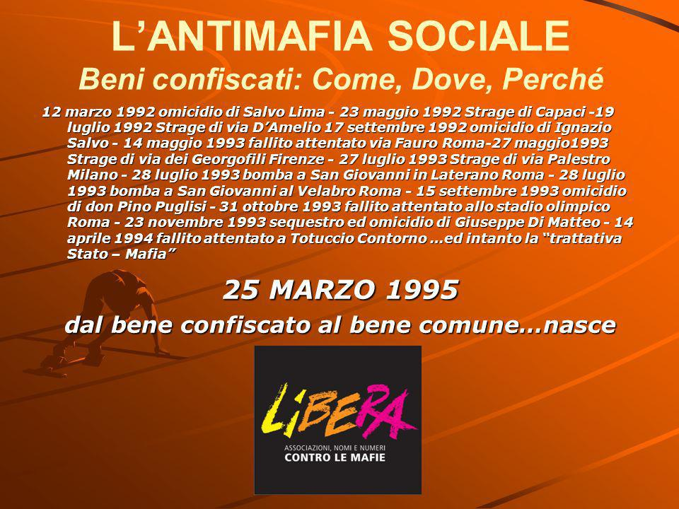 L'ANTIMAFIA SOCIALE Beni confiscati: Come, Dove, Perché