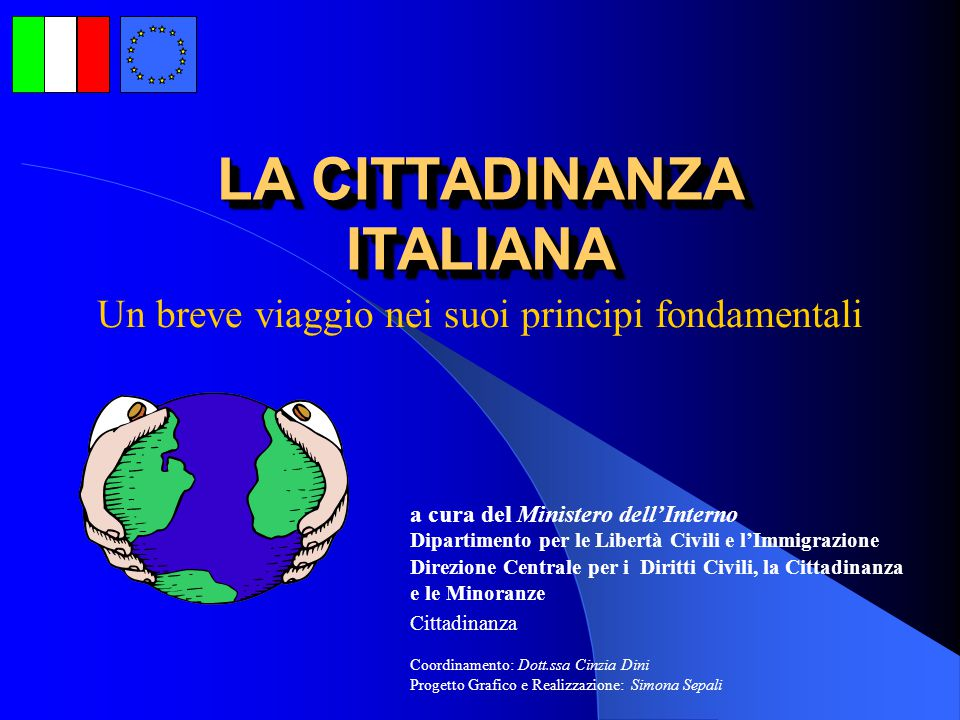 La cittadinanza italiana ppt video online scaricare for Ministero interno r