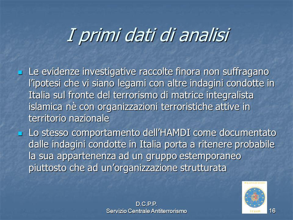 D.C.P.P. Servizio Centrale Antiterrorismo
