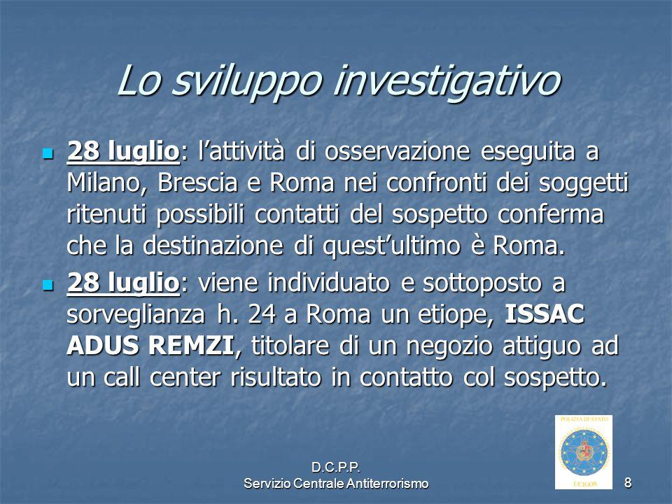 Lo sviluppo investigativo
