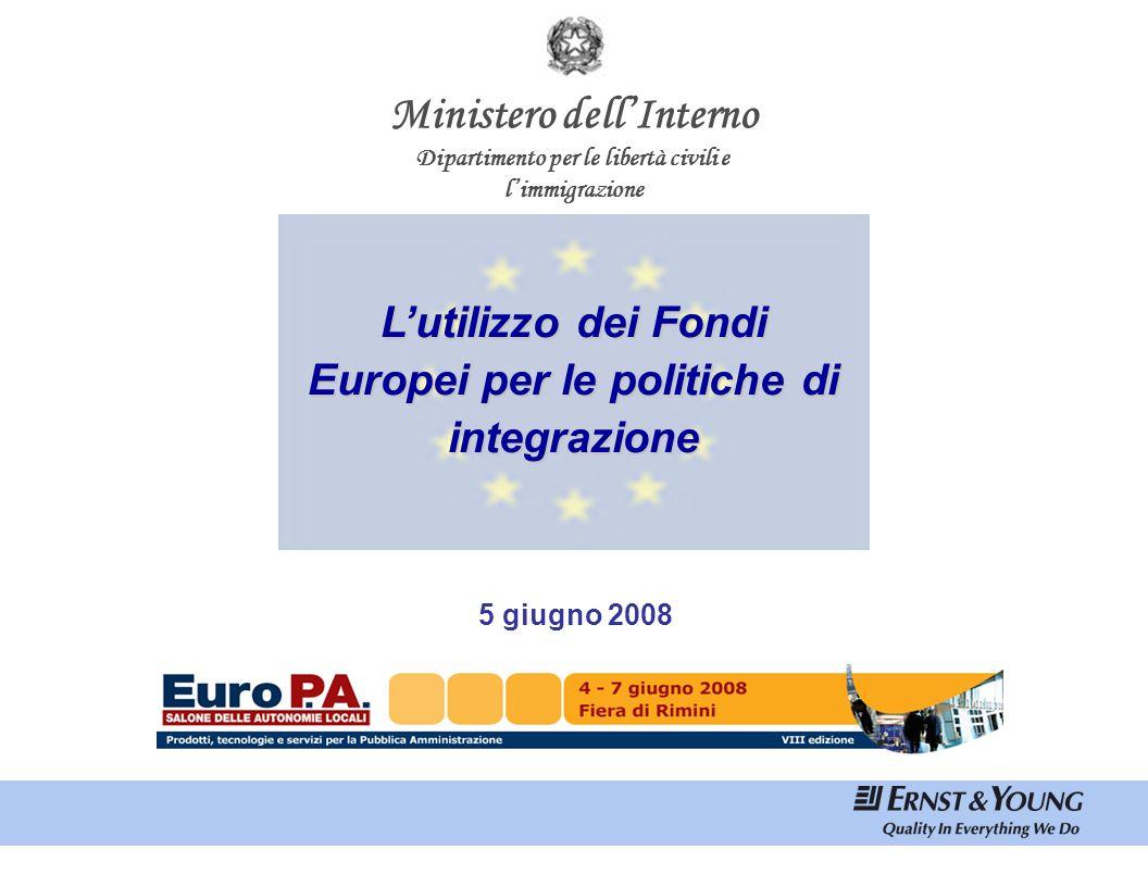 Indice I PARTE. Il Fondo Europeo per l'Integrazione dei Paesi Terzi 2007-2013. Contesto nazionale e flussi migratori.