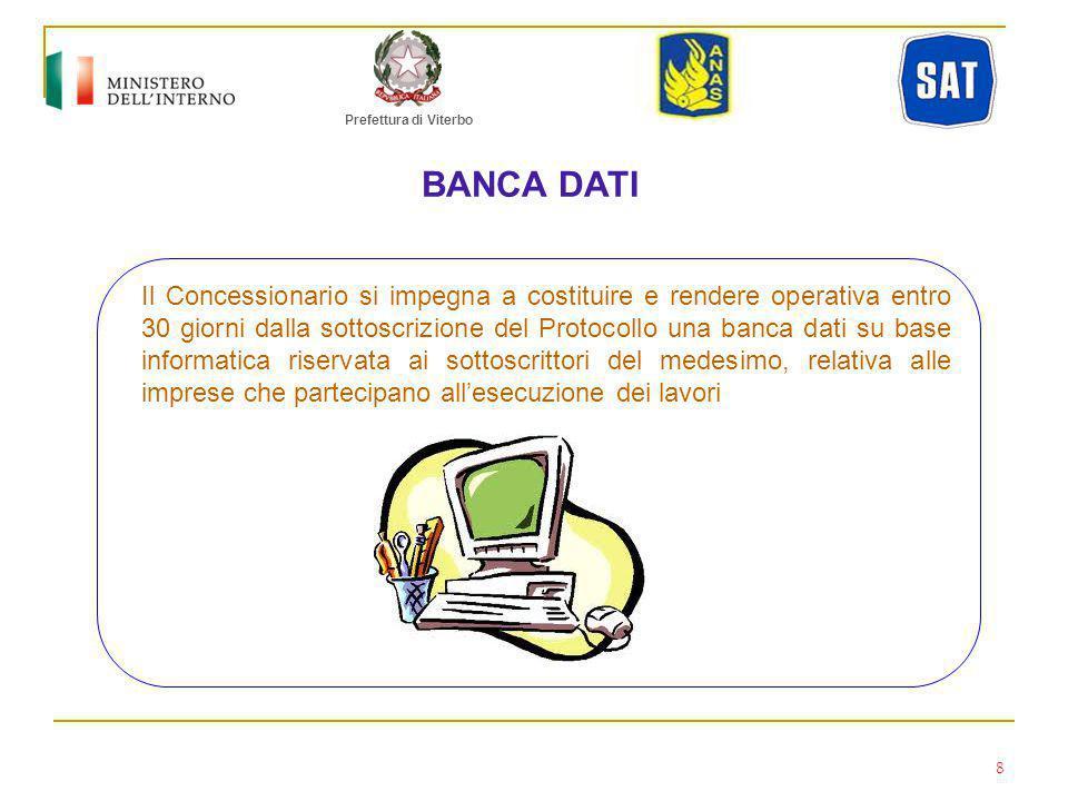 Prefettura di Viterbo BANCA DATI.