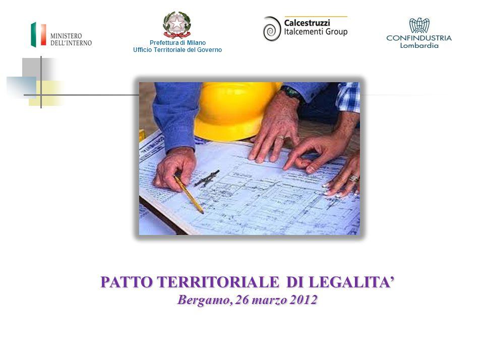 Ufficio Territoriale del Governo PATTO TERRITORIALE DI LEGALITA'