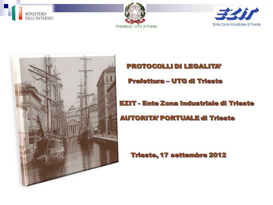 PROTOCOLLi DI LEGALITA' Prefettura – UTG di Trieste