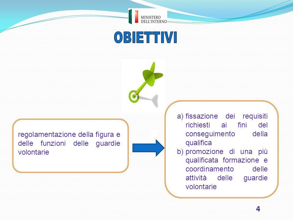 OBIETTIVI a) fissazione dei requisiti richiesti ai fini del conseguimento della qualifica.