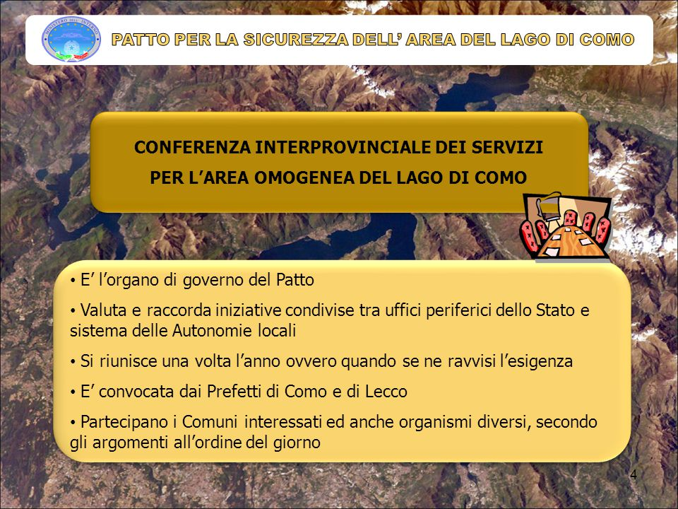 PATTO PER LA SICUREZZA DELL' AREA DEL LAGO DI COMO